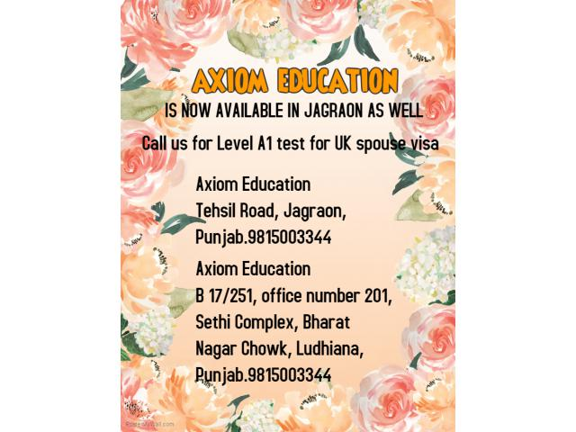ielts life skills level A1 test in ludhiana , jagraon