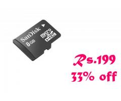 Buy online India lowest Sandisk 8GB memory card